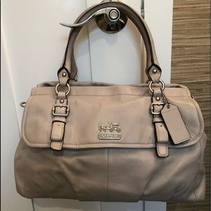 Coach Madison Leather Flap Carryall
